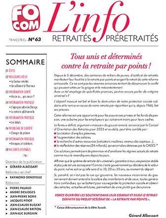 retraites info 63
