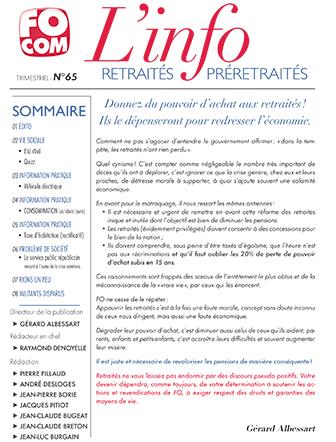 retraites info 65