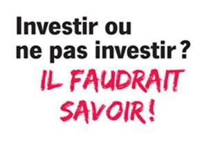 ARCEP – Investir ou ne pas investir ? Il faudrait savoir !