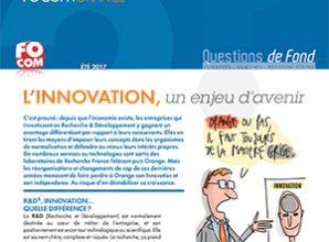 Questions de fond – L'innovation, un enjeu d'avenir (été 2017)