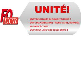 Unité UCR-FO : Manifestation du 28 juin 2018