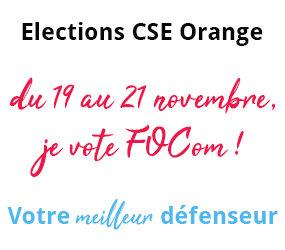 Elections CSE Orange du 19 au 21 novembre
