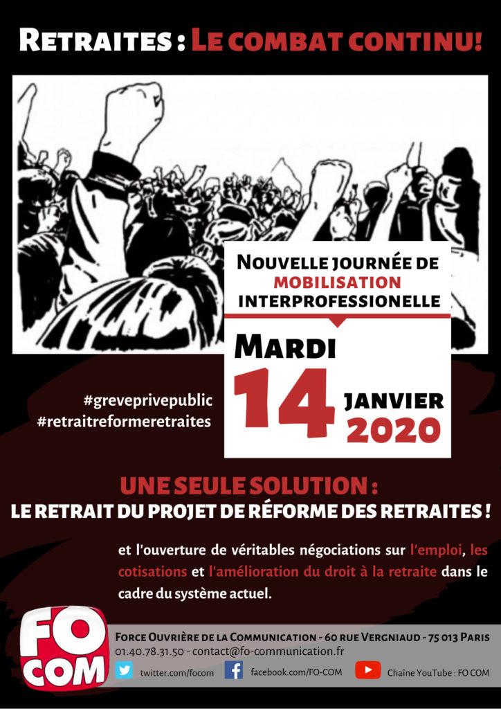 affiche pour la mobilisation du 14 juillet