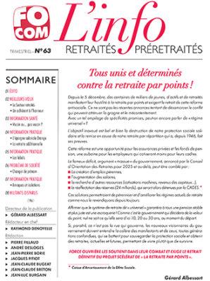 L'info n°63 – Décembre 2019