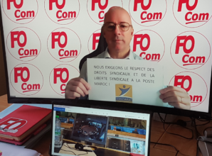 Solidarité avec les syndicats postaux marocains