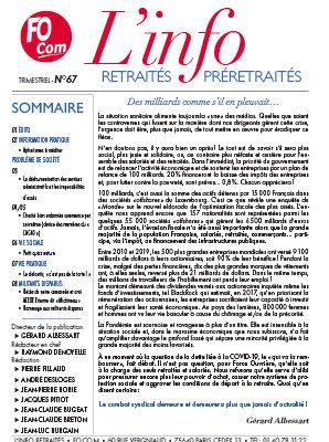 L'info n°67 – Mars 2021