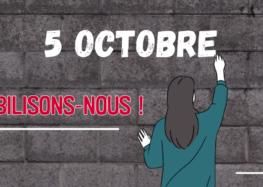 5 octobre 2021, mobilisation pour nos salaires, nos emplois et nos conditions de travail et d'études !