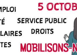 Action syndicale : Mobilisation du 5 octobre 2021